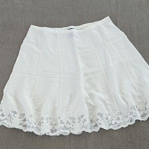 Gorgeous white linen skirt